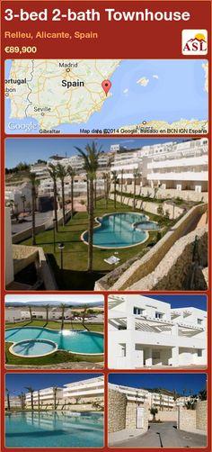 3-bed 2-bath Townhouse in Relleu, Alicante, Spain ►€89,900 #PropertyForSaleInSpain