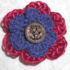 Vintage button flower pin tutorial (free)