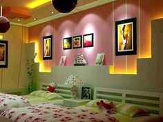 Bright options for decorating an apartment with plasterboard -Teenage gypsum board decoration - QualQuest***********