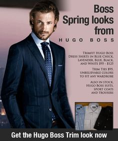 Nic's Toggery - Boss Spring looks from HUGO BOSS [rotating image if you click the link]