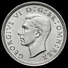1941 George VI Silver Sixpence, EF