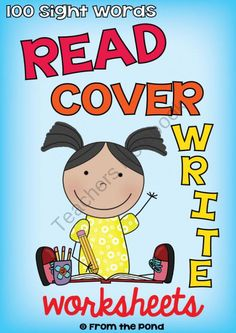 Read Cover Write Sight Word Worksheets product from From-the-Pond on TeachersNotebook.com