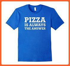 Mens Pizza is Always The Answer Funny Pizza Lovers T-Shirt 2XL Royal Blue - Funny shirts (*Partner-Link)