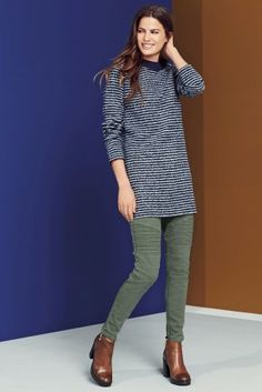 Buy Blue/Grey Boucle Stripe Longline Tunic online today at Next: Malaysia