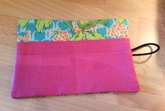 Pouch for carrying tea bigas - sewing project