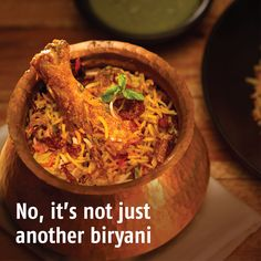 Sofyani Biryani: Low on spices and low on calories, yet rich in mint and coriander, this perfect balance of chicken and rice whispers in a cornucopia of flavours with every mouthful. The Sofiyani is Hyderbad's answer to the light Persian biryani.
