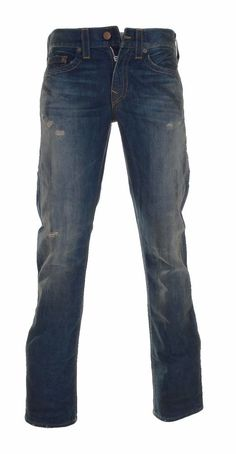 True Religion Men's Ricky Flap Relaxed Straight Leg Jean In Rough Road 34 NWT #TrueReligion #ClassicStraightLeg