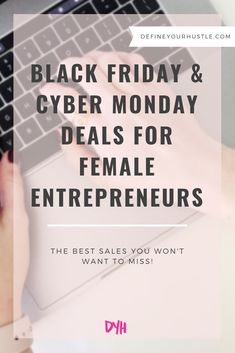Looking for some great deals that will benefit your business? This list has some of the best Black Friday and Cyber Monday sales! Custom Web Design, Building A Business, Successful Online Businesses, Cyber Monday Sales, Best Black Friday, Hustle, Benefit, Blogging, Entrepreneur