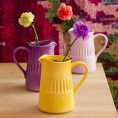 Large Yellow Ceramic Jug - Colour Your World - Temple & Webster