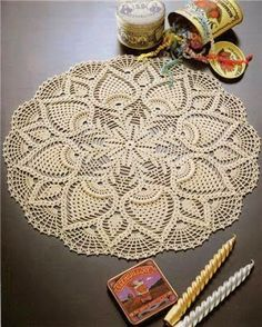 Hoje tem Flor !!!: Toalhinha/ Centrinho de mesa em  crochê com gráfic...
