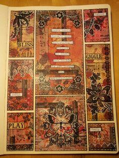 Art journal page. Miranda Bosch - Thurlings