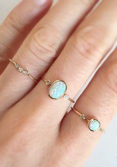 14kt Gold Opal & Diamond Marvel Ring