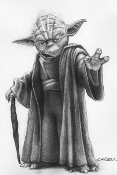 sketches /images of star wars characters - Saferbrowser Yahoo Image Search Results Star Wars Fan Art, Simbolos Star Wars, Star Wars Facts, Desenho Do Star Wars, Art Sketches, Art Drawings, Yoda Drawing, Star Wars Zeichnungen, Star Wars Painting