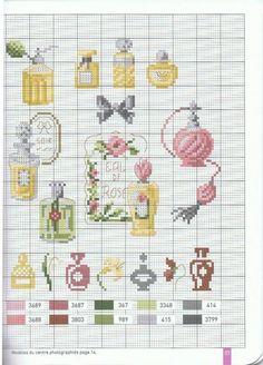 Veronique Enginger ''Gravures de mode au point de croix''  Perfume  cross stitch patterns