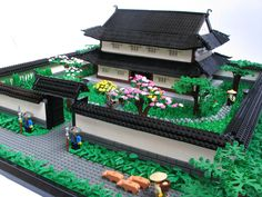 """this is called, """"Samurai House the detail on this black and white Japanese…"""