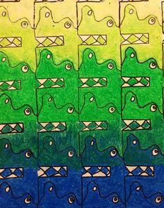 Fifth Grade Tessellation Drawing