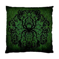 Victorian Spider pillow cushion case by Lttle Shop Of Horrors. GOTHIC, VICTORIAN, SPIDER, HALLOWEEN, DARK