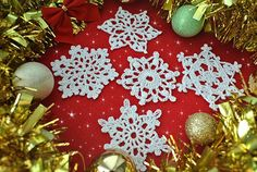 5 Free Crochet Snowflake Patterns - Crochet creation by janegreen
