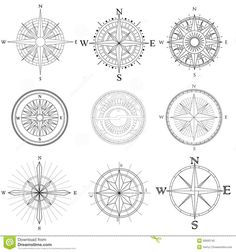 Set Illustration Of Artistic Compass. - Download From Over 45 Million High Quality Stock Photos, Images, Vectors. Sign up for FREE today. Image: 30600743