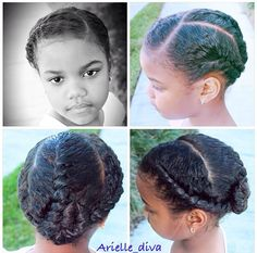 Cute protective hairstyle for natural hair kids - Hair Care: Natural Hair Kids Tips & Styles - Kids Style Lil Girl Hairstyles, Natural Hairstyles For Kids, Princess Hairstyles, Braided Hairstyles, Children Hairstyles, Curly Hair Styles, Natural Hair Styles, Divas, Protective Hairstyles