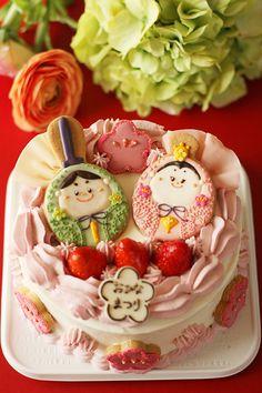 おひなさまのケーキ ♥ Dessert