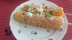 Elote preparado - mexican grilled corn on the cob