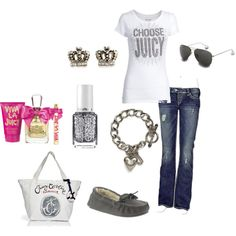 A fashion look from February 2012 featuring Juicy Couture t-shirts, Silver Jeans Co. jeans. Browse and shop related looks.