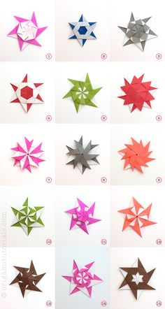 Learn how to fold (tutorial video) the versatile 15 Chameleon Origami Stars, which were designed by Origami artist Xander Perrot from New Zealand.