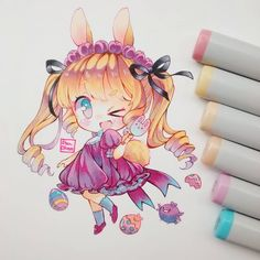 Felices pascuas  #traditional #chibi #chibiart #chibi #copicmarker #copicsketch #copicmultiliner