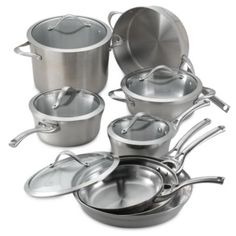 Calphalon® Contemporary Stainless Steel 13-Piece Cookware Set - BedBathandBeyond.com