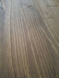 Learn how to make your own custom wood stain. This DIY stain called Weathered Walnut is a combo of warm brown tones and rustic grey tones. Staining Pine Wood, Varathane Wood Stain, Weathered Wood Stain, Diy Wood Stain, Stain On Pine, Oak Stain, Dark Walnut Stain, Wood Floor Stain Colors, Red Oak Floors