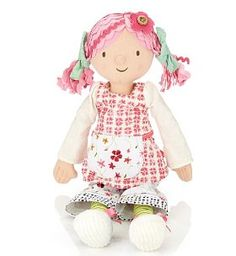 "I just found this little doll on a blog, She's called ""Emily Button"" and she's from England, she's adorable!"