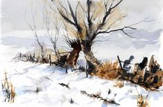 david bellamy artist | Winter Willows....after 'Ted Wesson'