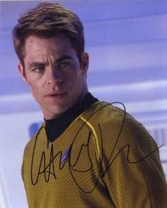 All About The Star Trek 2009 Cast read about Chris Pine as James T. Kirk and Zachary Quinto as Spock. Get signed photos Chris Pine & Zachary Quinto. Star Wars, Star Trek Tos, Star Trek 2009 Cast, Chris Pine Movies, James T Kirk, Spock And Kirk, Star Trek Reboot, Star Trek Captains, Star Trek Beyond