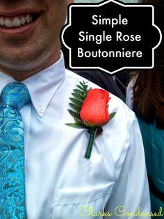 DIY Boutonniere #ClarksCondensed