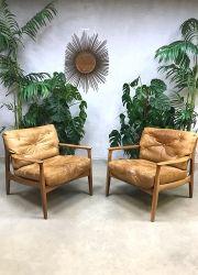 Vintage design lounge chairs fauteuils Eugen Schmidt voor Soloform www.bestwelhip.nl
