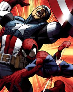 Spidey takes a bullet for Cap. this is something that I never wont to happen to spidey ya he saves cap but he dies