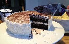 My favorite chocolate cake with coconut buttercream frosting - Ant & Anise