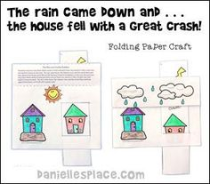 The Wise and Foolish Builders Activity sheet for Preshool children from www.daniellesplace.com