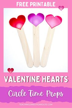 Keep your toddlers and preschoolers engaged with this free printable Valentine's Day circle time prop. Make one heart stick puppet for each child to hold while reading and singing! #toddlers #preschool #valentinesday #hearts #printable #prop #teachers #earlychildhood #education #teaching2and3yearolds Valentine Heart, Valentines Day, Toddler Circle Time, Circle Time Activities, Toddler Preschool, Early Childhood, Puppets, Free Printables, Toddlers