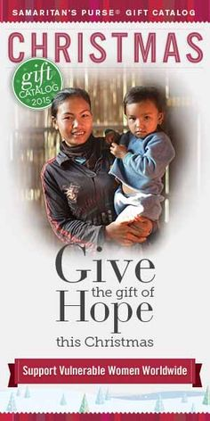 Christmas Gifts that share the Gospel - Women's Programs. Mission Statement Samaritan's Purse is a nondenominational evangelical Christian organization providing spiritual and physical aid to hurting people around the world. Since 1970, Samaritan's Purse has helped meet needs of people who are victims of war, poverty, natural disasters, disease, and famine with the purpose of sharing God's love through His Son, Jesus Christ.