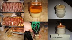 DIY Bacon Fat Candle.  Yes, I want the house, clothes, and pets to smell of bacon.  Awesome.  Tons of awesome.