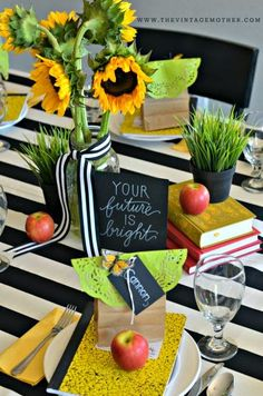 Parties By Paris: Sunflower decor for graduation party