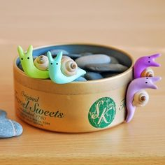 Polymer Clay Snails