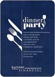 Sleek and simple dinner party invitation