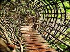 """Josep Pujilula's LABYRINTH an art environment alongside the Fluvia, river in Catalonia, Spain.Begun in """"After creating his initial… Places To Travel, Places To See, Wonderful Places, Beautiful Places, Travel Around The World, Around The Worlds, Land Art, Magic Places, Secret Places"""