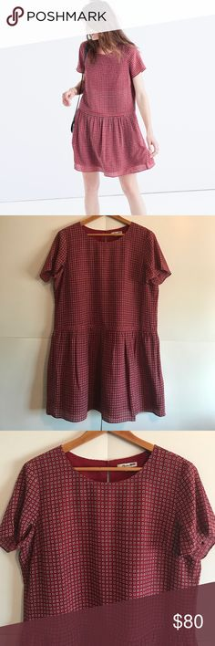 MADEWELL Silk Ascot Tile Dress Size 12 In Excellent Condition!! 100% Silk Madewell Dresses