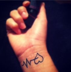 """Of All my tattoos, this ones my favorite. The heart beats with my pulse. """"What doesn't kill you makes you stronger"""""""