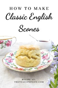 Vegetarian · The most perfect treat for afternoon tea are classic English scones! These scones are soft, light and best enjoyed warm with cream and jam. British Scones, English Scones, English Food, English Snacks, English Dessert Recipes, English Recipes, Brunch Recipes, Sweet Recipes, Sushi Recipes
