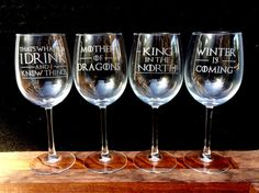 Hey, I found this really awesome Etsy listing at https://www.etsy.com/listing/462673584/set-of-4-wine-glasses-etched-game-of
